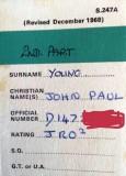 1974, 19TH NOVEMBER - JOHN YOUNG, LEANDER, STATION CARD, 03..jpg