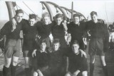 1953, 17TH MARCH - THOMAS MARTIN R. HYDE, ON THE BOAT PIER, I AM BACK ROW ON THE RIGHT, 6..jpg