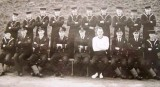 1950, 6TH JUNE - CARL LEMKES, BENBOW, 79 CLASS, [POSSIBLY THE STAFF AND BADGE BOYS OF BENBOW].jpg