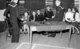 1954, JANUARY - MIKE MARGARY, ANSON DIVISION, 372 CLASS.  BADGE BOYS DANCE, CENTER PO BOY MIKE MARGARY.jpg