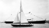 1961, 21ST JULY - PETER BONNER, ROYAL YACHT, DRESSED OVERALL OFF SHOTLEY.jpg
