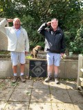 2020 - TREVOR MARTSTON, WITH A RALEIGH BOY, PAYING OUR RESPECTS AT THE GANGES MEMORIAL, MYLOR, WE BOTH JOINED IN 1965