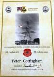 1970, 7TH OCTOBER - PETER COTTINGHAM, 21 RECR.,ANNEXE, LEANDER, THEN RODNEY, 21 CLASS, HMSGA 50TH  CERTIFICATE, 23..jpg