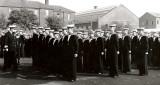 1959, 9TH JUNE - IAN SIMPSON, DRAKE, 39 MESS, REG BALL IS REAR RANK, 2ND RIGHT,  CDR. TRICK INSPECTING.jpg