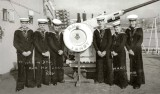 1966 - TAFF DAVIES, SEA TRAINING, HMS TENBY, LEFT FRED DRAYTON, 4TH FROM LEFT TAFF DAVIES.jpg