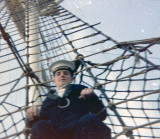 1972, 30TH MAY - PHILIP DAWSON, 34 RECR., DRAKE, 9 MESS, ON THE RATLINGS BELOW THE SAFETY NET.jpg