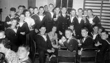 1950, 7TH JULY - MICHAEL WOOD, A PARTY IN THE GYM.jpg