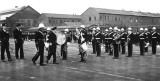1950 - MAXIE BEARE RM, BAND BEING INSPECTED , SUNDAY DIVISIONS.jpg