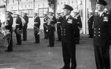 1950 - MAXIE BEARE RM, BAND IN NELSON HALL.jpg