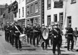 1950 - MAXIE BEARE RM, GANGES ROYAL MARINE BAND MARCHING THROUGH HARWICH.jpg