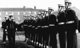 1961, 12TH SEPTEMBER - JOHN HILLS,  HAWKE, 343 CLASS, 48 MESS, GUARD BEING INSPECTED.jpg