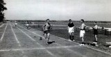 1959 - DAVID MORRIS, BENBOW SPORTS DAY, GRAHAM KINGTON WINNING 4 X 400 YRDS RELAY.jpg