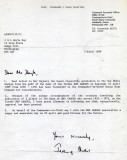 1989 - DICKIE DOYLE, EXCHANGE OF LETTERS TO FLY ENSIGN, PERMISSION GIVEN BY C IN C HOME FLEET, B..jpg