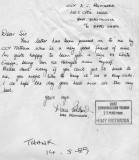 1989 - DICKIE DOYLE, EXCHANGE OF LETTERS TO FLY ENSIGN, REPLY FROM C.C.Y HMY BRITANNIA, C..jpg