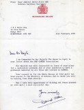 1989 - DICKIE DOYLE, EXCHANGE OF LETTERS TO FLY ENSIGN, A REPLY FROM H.M., A..jpg