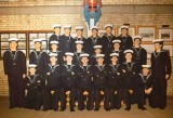 1974, 19TH NOVEMBER - GARY BOWEN, I AM MIDDLE ROW WITH MOUTH OPEN, 44 YRS IN RN AND RAN, SEE NEXT IMAGE FOR NAMES, 01.