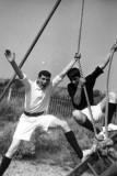 1966, 14TH NOVEMBER - CHRIS KNIGHT, 89 RECR., DUNCAN, 13 MESS, CHRIS & GEORGE ON ASSULT COURSE.jpg