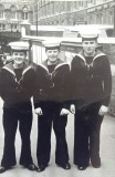 1965, JULY - MICHAEL SMITH, ME AND MY MATES NEAR LIVERPOOL STREET STATION.jpg
