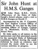 1960, APRIL - SIR JOHN HUNT [DOE AWARDS] VISITS GANGES, NAVY NEWS.jpg