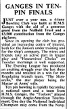 1962, JANUARY - GANGES IN TENPIN FINALS, NAVY NEWS.jpg