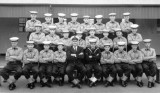 1965, OCTOBER - GRAHAM BUDD, 80 RECR., ANNEXE MESS, I'M FRONT ROW 3RD FROM LEFT, COLLINGWOOD 44 MESS IN MAIN ESTABLISHMENT.
