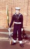 1972, 27TH NOVEMBER - BOB SNODDON, 40 RECR., INSTR. IN ANNEXE CRS[W] BRIAN DURRAN, PHOTO TAKEN IN 1973, I RETIRED AS A LT. CDR.