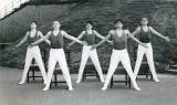 1972 - GEOFFREY WOOD, RODNEY, 42 MESS, PRACTISING FOR CHAIR TRICKS DISPLAY TEAM AT EARLS COURT, I AM ON THE LEFT, 03.