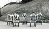 1972 - GEOFFREY WOOD, RODNEY, 42 MESS, PRACTISING FOR CHAIR TRICKS DISPLAY TEAM AT EARLS COURT, I AM ON THE LEFT, 04.