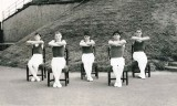 1972 - GEOFFREY WOOD, RODNEY, 42 MESS, PRACTISING FOR CHAIR TRICKS DISPLAY TEAM AT EARLS COURT, I AM ON THE LEFT, 05.