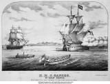 UNDATED - HMS GANGES AT TARGET PRACTICE, SEE DETAILS BELOW IMAGE.jpg