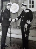 1962 - JOHN WABY, CAPT. J.R. GOWER, DSC HANDING OVER TO CAPT. C.P. NORMAN DSO, DSC.jpg