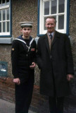 1975, 11TH FEBRUARY - PHIL FRIEND, Q.D., PASSING OUT DAY, WITH DAD.jpg