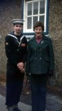 1975, 11TH FEBRUARY - PHIL FRIEND, Q.D., PASSING OUT DAY, WITH MUM.jpg
