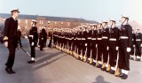 1975, 9TH DECEMBER - STEVE LADDS, LEANDER DIV., PASSING OUT GUARD, I'M THE SMALL ONE IN MIDDLE, CLASS LEADER IS BRYAN PERKS.