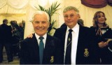 2005 - CENTENARY PARADE RECEPTION AT IPSWICH, GEORGE 'FITZ' FITZ-COSTA, GANGES 06.09.1949 AND DAVID 'MOUSEY' RYE, 04.01.1949
