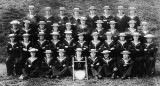 UNDATED - NEWLY QUALIFIED BOY SIGNALMEN WITH THEIR INSTRUCTORS AND A SHIELD.jpg