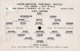 1945, 31ST OCTOBER - INTER SERVICES FOOTBALL MATCH, GANGES V R.A.F.