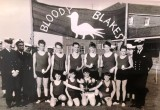 1970, 21ST APRIL - STEVE WAILES, BLAKE CROSS COUNTRY WINNERS, I'M BACK ROW 2ND RIGHT, MARTIN FRESHWATER MAYBE 2ND LEFT FRONT ROW