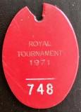 1970, 18TH MAY - ANDY FERN, 18 RECR., ROYAL TOURNAMENT, 1971, MY I.D. TAG.jpg