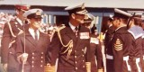 1973, JUNE - MALCOLM JENKINS, LAST MAST MANNING DISPLAY DURING A VISIT OF ADMIRAL OF THE FLEET THE DUKE OF EDINBUGH, 01.