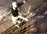 1960, 9TH FEBRUARY - CLIFF GATHERCOLE, UP THE MAST JUST BELOW THE FUTTOCK RIGGING.jpg