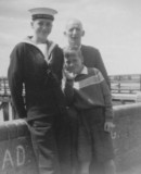 1959, 5TH MAY - DAVE EVANS, 22 RECR., KEPPEL, 38 CLASS, WITH BROTHER AND DAD.jpg