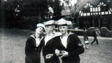 1960 - JAY ROBINSON, 3 MEMBERS OF THE GANGES HORNPIPE TEAM AT CASTLE PARK, COLCHESTER.jpg
