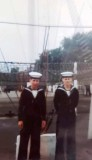 1972, 30TH MAY - JOHN WALKER, ANNEXE, LEANDER, THEN BENBOW, 34 MESS, STEVE WELLMAN TO PORT AND MYSELF TO STARBOARD.jpg