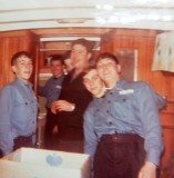 1972-73 - MICHAEL PAGE, 01, WHILST SHIPS COMPANY TOOK JUNIORS ON EXPED TO NORFOLK BROADS.