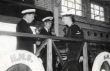 1956 - PETER GALLANT, MYSELF RECEIVING THE PARADE EFFICIENCY CUP ON BEHALF OF BLAKE 6 MESS.jpg