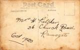 1920, OCTOBER - JIM WORLDING, 02, 35 MESS, R.N.T.E. SHOTLEY, REVERSE OF POST CARD.jpg