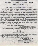 1904, 13TH OCTOBER - LETTERS TO THE TIMES, REFERENCE AGE OF BOYS JOINING WITHOUT PARENTAL CONSENT..jpg