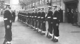 1962, SEPTEMBER - JOE BATES, 04, EXMOUTH, 81 CLASS, GUARD INSPECTION IN NELSON HALL, I AM RINGED.jpg