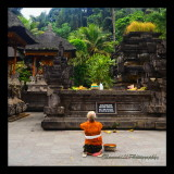 Local praying in the Tirta Empul temple